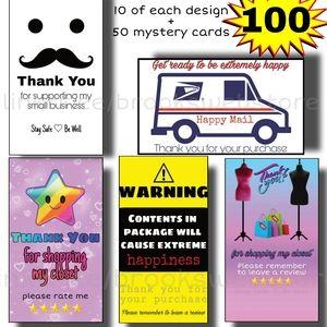 100 Thank You Cards Shipping Feedback Bundle